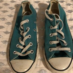 Green Converse all star girls sneakers